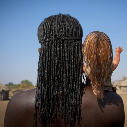 Mucawana Girl With A Western Doll On Her Shoulder, Village Of Soba, Angola