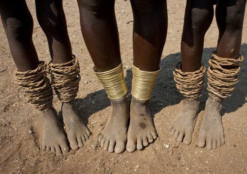 Mucawana Women S Ankle Bracelets, Village Of Soba, Angola