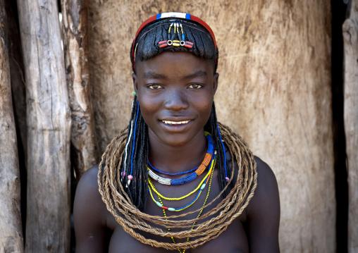 Mucawana Girl Called Fernanda, Village Of Soba, Angola