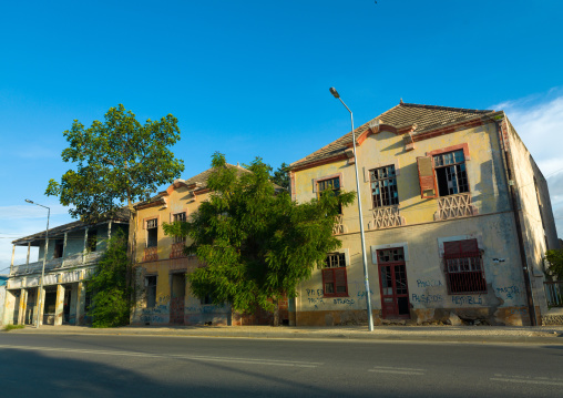 Old portuguese colonial houses, Benguela Province, Lobito, Angola