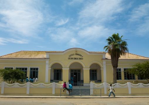 Colonial school building, Namibe Province, Tomboa, Angola