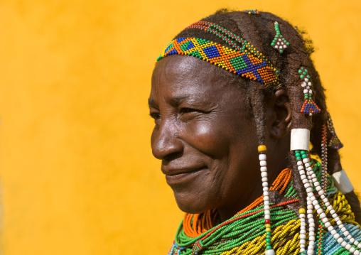 Mumuhuila tribe woman portrait, Huila Province, Chibia, Angola