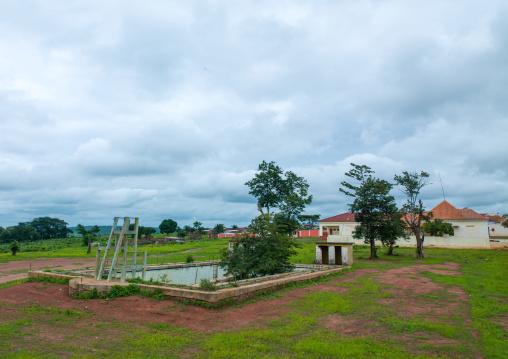 Empty pool in a village, Cunene Province, Chitado, Angola