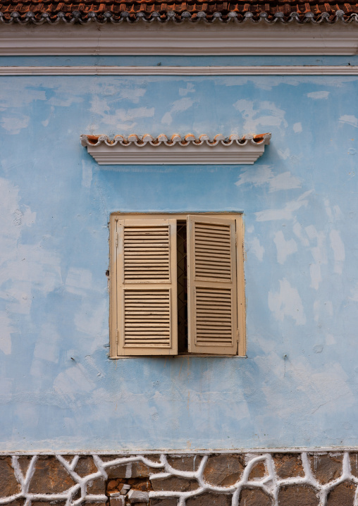Window of an old portuguese colonial house, Huambo Province, Huambo, Angola
