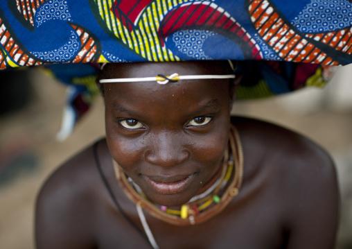 Mucubal Woman With Ompota Headdress, Virie Area, Angola