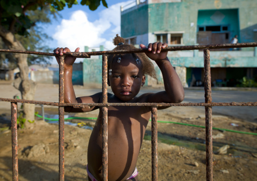 Young Girl In A Former Army Base That Became A Squat, Lobito, Angola
