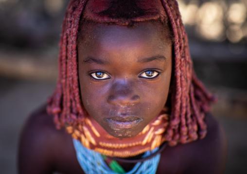 Mumuhuila tribe girl portrait, Huila Province, Chibia, Angola