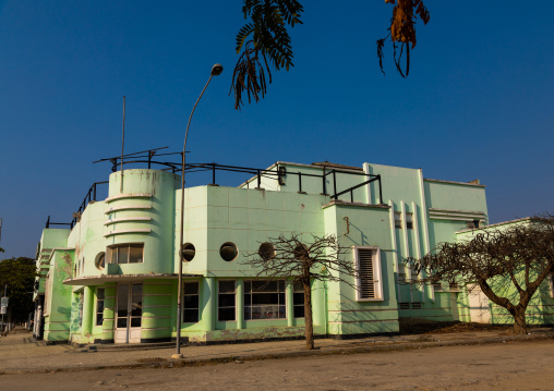 Art deco portuguese colonial building formerly cine teatro Imperium, Benguela Province, Lobito, Angola