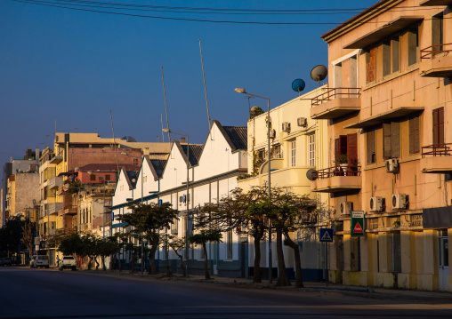 Old portuguese colonial buildings and houses, Benguela Province, Lobito, Angola