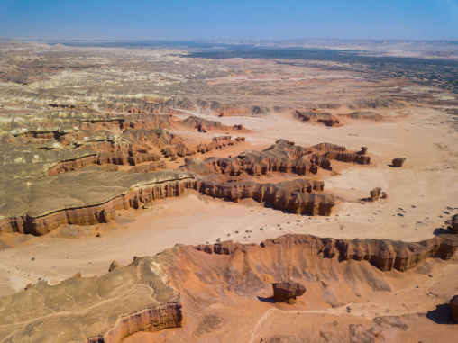 Aerial view of rock formations, Cunene Province, Curoca, Angola