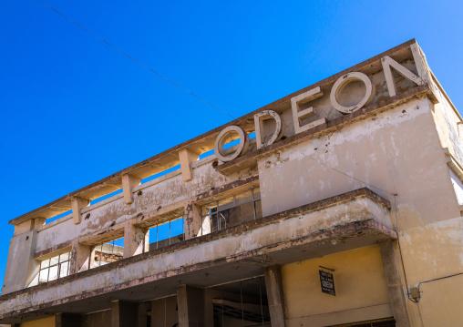 Old portuguese colonial building of the cine teatro odeon, Huila Province, Lubango, Angola