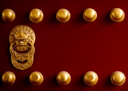 Door Knocker In Temple Of Heaven, Beijing, China