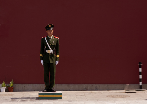 Police Guard At Forbidden City, Beijing, China