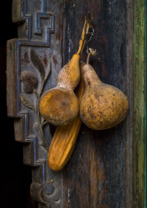 Calabashes On A Doorway, Tuan Shan Village, Yunnan Province, China