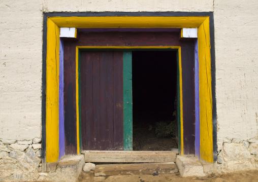 Gadain Sumzanling Monastery Door, Zhongdian, Yunnan Province, China