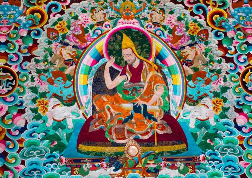 Thangka in Rongwo monastery, Tongren County, Longwu, China