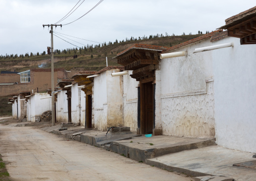 Monks houses in Hezuo monastery, Gansu province, Hezuo, China