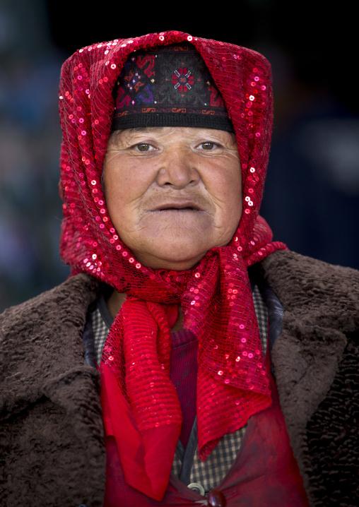 Old Tajik Woman, Xinjiang Uyghur Autonomous Region, China