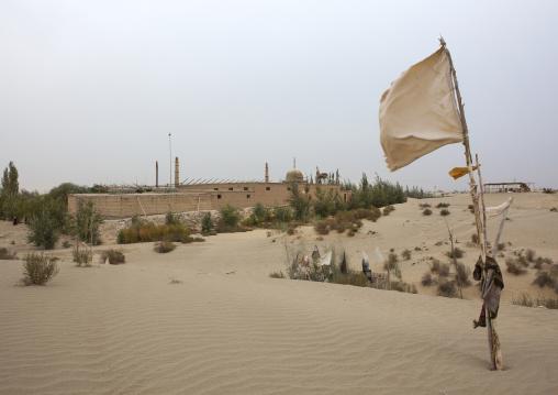 Imam Asim Mosque In The Taklamakan Desert, Xinjiang Uyghur Autonomous Region, China