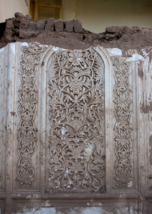 Detail Of A Wall In A Demolished House, Old Town Of Kashgar, Xinjiang Uyghur Autonomous Region, China