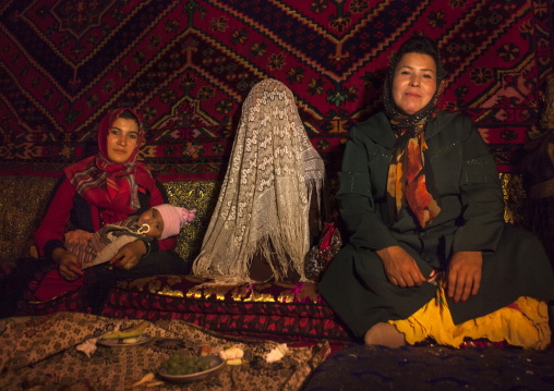 Bride In A Wedding In Uyghur Family, Kashgar, Xinjiang Uyghur Autonomous Region, China