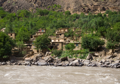 Adobe houses in a small village, Badakhshan province, Darmadar, Afghanistan