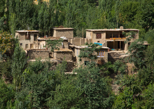 Adobe houses in a small village, Badakhshan province, Darmadar, Afghanistan