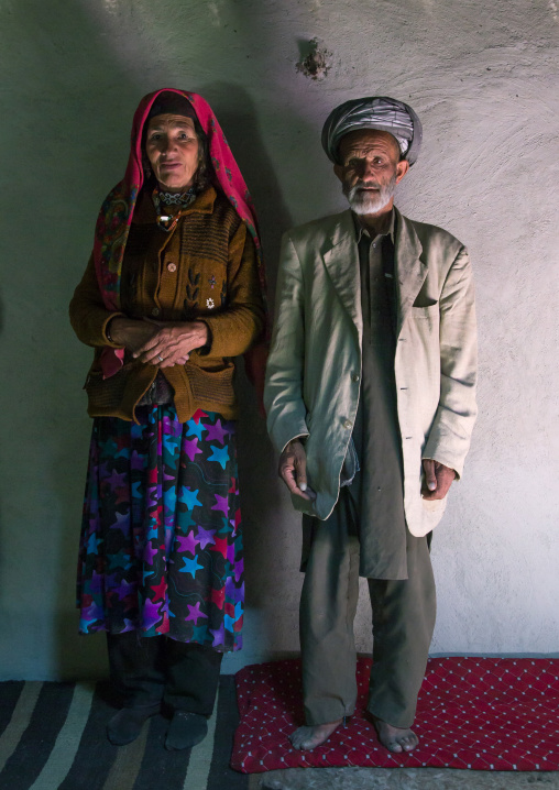 Afghan couple inside their house, Badakhshan province, Wuzed, Afghanistan
