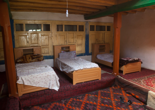 Pamiri traditional guest house, Badakhshan province, Khandood, Afghanistan