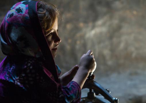 Portrait of an afghan girl, Badakhshan province, Qazi deh, Afghanistan