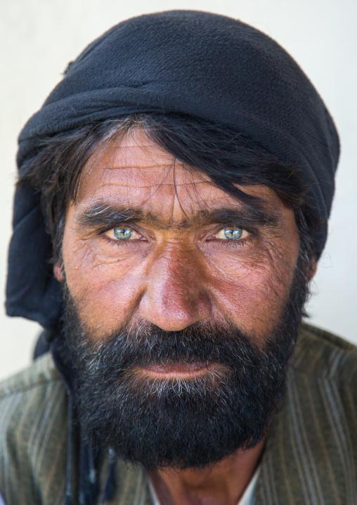 Portrait of an afghan man with clear eyes, Badakhshan province, Khandood, Afghanistan