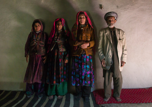 Afghan family inside their house, Badakhshan province, Wuzed, Afghanistan