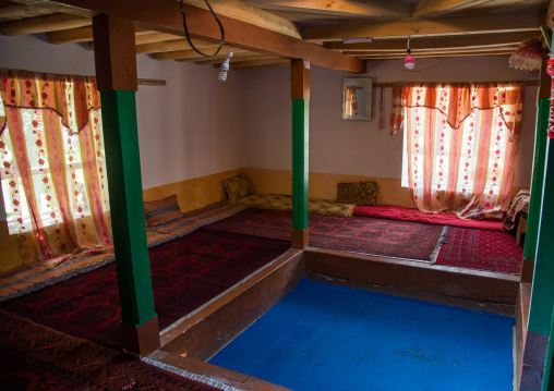 Pamiri traditional guest house, Badakhshan province, Wuzed, Afghanistan