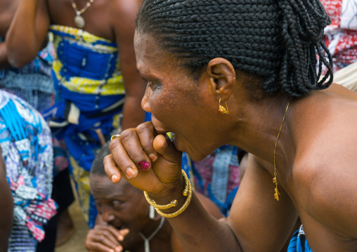 Benin, West Africa, Porto-Novo, porto-novo king toffa ii court women singing