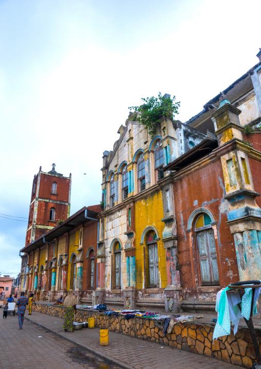 Benin, West Africa, Porto-Novo, multicoloured great mosque