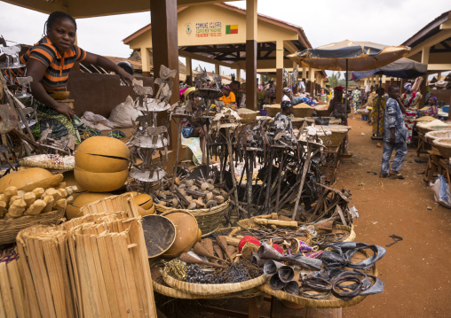 Benin, West Africa, Adjara, busy market