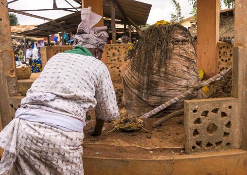 Benin, West Africa, Adjara, legba fetish on a market