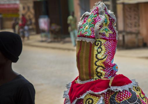Benin, West Africa, Porto-Novo, egoun egoun spirit of the deads asks money to people