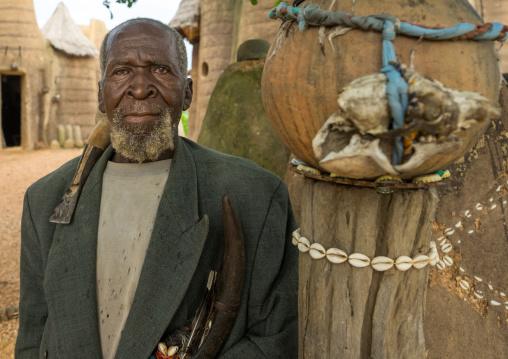 Benin, West Africa, Boukoumbé, mr kouagou maxon a traditional somba tribe healer