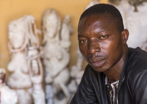 Benin, West Africa, Bonhicon, kagbanon bebe voodoo priest portrait