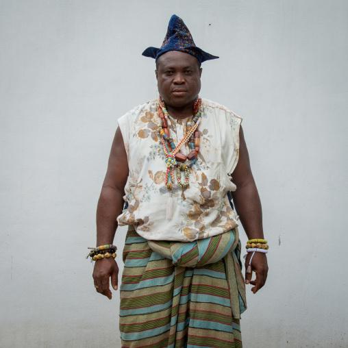Benin, West Africa, Savalou, prince of savalou portrait