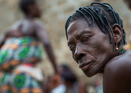 Benin, West Africa, Bopa, woman during a voodoo ceremony