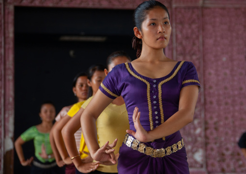 Cambodian dancers during a training session of the National ballet, Phnom Penh province, Phnom Penh, Cambodia