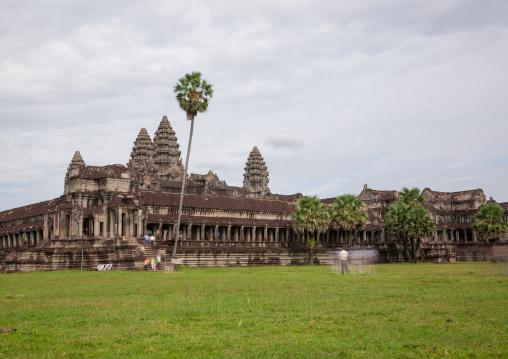 The exterior view of Angkor wat, Siem Reap Province, Angkor, Cambodia