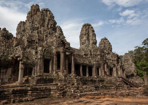 The bayon khmer temple at angkor, Siem Reap Province, Angkor, Cambodia