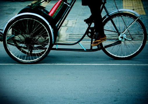 Pedicab in the street, Phnom Penh province, Phnom Penh, Cambodia
