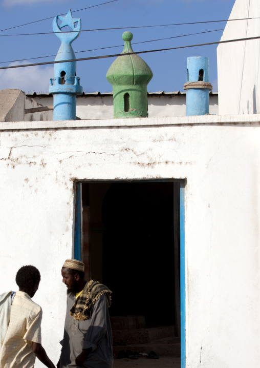 Men In Front Of An Old Mosque, Tadjourah, Djibouti