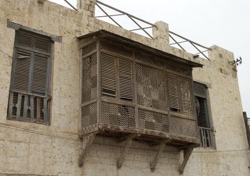 Moucharabieh On An Ottoman Building  In Massawa, Eritrea
