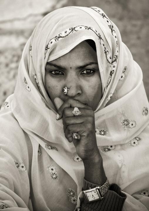 Woman During Festival Of Mariam Dearit, Keren, Eritrea