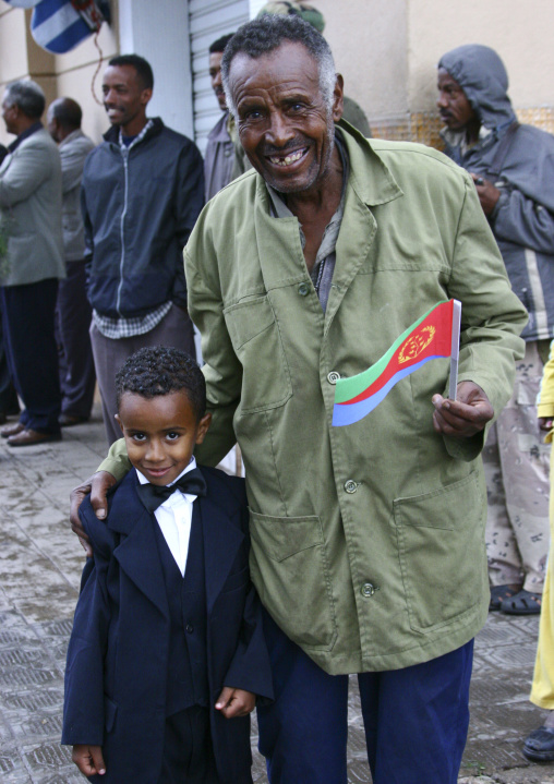 Father And Son On National Day, Asmara, Eritrea